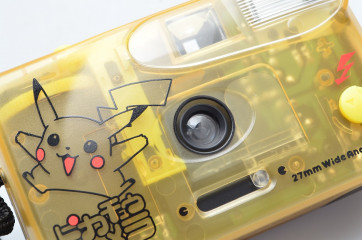 Pikachu Camera 35mm film skelton body with 27mm wide angle lens
