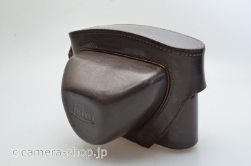 Leica brown leather camera case for M3/M2 with DR-Summicron small tripod screw