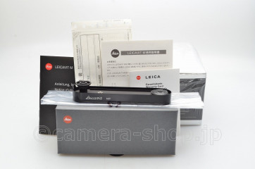 LEICA LEICAVIT M black paint finish 14009 un-used with Japanese instruction and warranty card