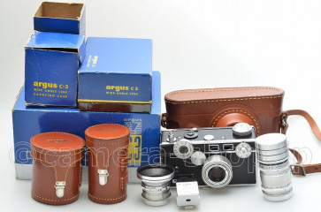 argus C3 set 4.5/35 3.5/50 4.5/100 CASE BOX