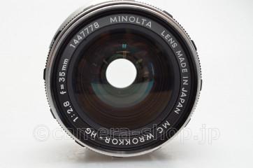 MINOLTA MC W.ROKKOR-HG 2.8/35 with AUTO WINDER-G including defect X-7