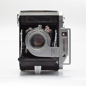 Pearl II with Hexar 75mm/3.5 (later model), case,hood,auto-up