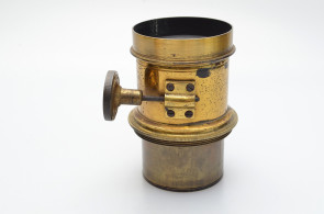 Vintage Brass lens unknown name with hood