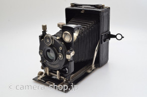 Old Folding Camera Berthiot Anastigmat Eurygraphe 6/120 RULEX shutter