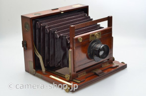 Darlot Paris Lens PHOTO-HALL Paris France unknown wooden folding camera
