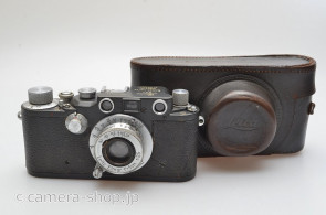 Military Leica IIIC gray STEP Elmar 3.5/5cm Luftwaffen-Eigentum with gray case
