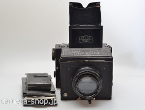 Zeiss Ikon Miroflex B (859/7) with Biotessar 2.8/165 with 120 rollfilm holder