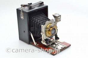 Houghton TUDOR NO.3 c1906 FOLDING BED CAMERA SYMMETRICAL LENS F8
